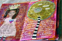 https://flic.kr/p/mFepQ | Art Journal Page........ | spent the day playing into my art journal yesterday.........