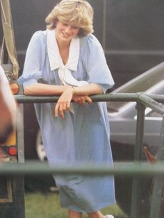May 30, 1982: Princess Diana at the polo grounds of the Guards Club, Windsor.