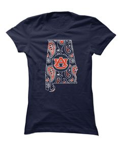 Auburn Tigers - Paisley State Outline