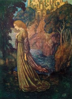 Edmund Dulac - Edgar Alan Poe poems -Annabelle Lee