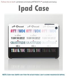 IPAD CASE IPAD MINI designed by We~Ivy.  Ultra-thin profile showcases more of your iPad Mini. Glossy printed finish covers the impact-resistant shell. Sleek and easy-to-hold design these cases are also compatible with smart covers for additional protection.  Visit We~Ivy's Art BootH to browse  more special #art #gift ideas for #holiday seasons or # birthday #party, to find great #home decors or stuff just to spoil yourself. Spirit Quotes, Presents For Friends, Laptop Skin, Ipod Touch, Ipad Mini, Ipad Case, Tech Accessories, Gratitude, Ivy