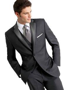 Buy Dark Gray costum made tuxedos for men groom suit mens suits with pants wedding suits Business suits for men foaml dress terno . Slim Fit Tuxedo, Tuxedo Suit, Tuxedo For Men, Tuxedo Jacket, Terno Slim, Costume Gris, Vest And Tie, Groom Attire, Groom Wear