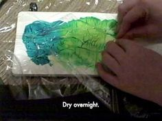 This looks like so much fun!  The hard part will be waiting overnight to see the finished product!    The One Minute Muse | Art Journal Technique | Saran Wrap