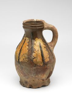 jug Belgium Material and technique Lead glaze, redware, applied relief Dimensions Width cm Depth 19 cm Height cm Antique Pottery, Ceramic Pottery, Earthenware, Stoneware, Medieval, Pottery Wheel, Pots, Antique China, Ceramic Cups