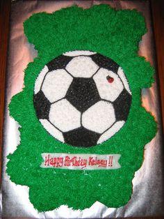 Soccer Cupcake Cake  on Cake Central