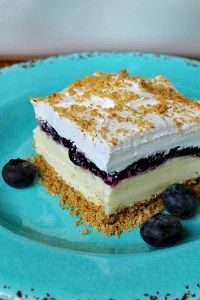 No Bake Lemon Blueberry Dessert has layers of slightly tart lemon cream cheese, sweet blueberries, Cool Whip, on a buttery graham cracker crust. Strawberry Cake Mix Cookies, Strawberry Lemonade Cupcakes, No Bake Desserts, Easy Desserts, Diabetic Desserts, Lemon Desserts, Sweet Desserts, Salted Nut Bars, Canned Blueberries
