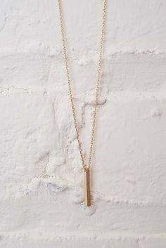 Vertical Bar Charm Necklace