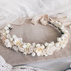 Lilies of the valleyBridal crown Flower crownIvory by SERENlTY