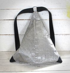 ITA 72 backpack Very unusual triangular backpack made of used sail and leather.