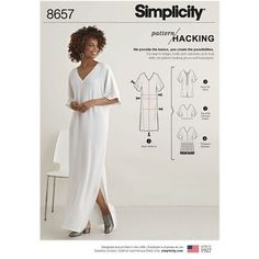 Sewing Pattern Women's Caftan Pattern, Loose Fit Tunic Pattern, Pullover Top Pattern, Simplicity Sewing Pattern 8657 by on Etsy Misses' Caftan with Options for Design Hacking Simplicity's Pattern Hack collection is designed to put the creativity in your h Simplicity Sewing Patterns, Dress Sewing Patterns, Sewing Patterns Free, Free Sewing, Clothing Patterns, Sewing Tips, Sewing Projects, Sewing Hacks, Sewing Tutorials