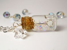 Tiny Bubble Soap Glass Bottle Necklace by *AliaBierwag on deviantART