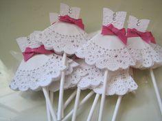 wedding dress cupcake toppers