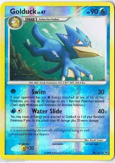 Pokemon Card Platinum Reverse Holo Rare Golduck 29/127 - FREE combined shipping