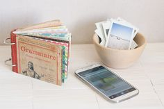 Make a Mini Album with a Vintage Book Cover by Francine Clouden for Make and Takes