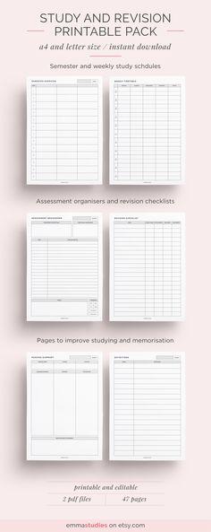 student printables study and revision help emmastudies studyblr