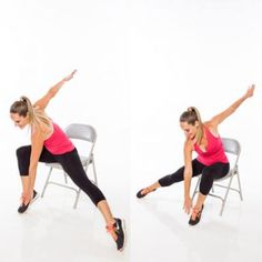 Exercise class: Skater Switch Chair Exercise - Shape Magazine