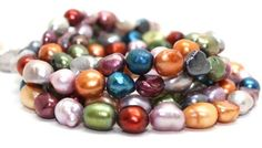 Gorgeous Three Strands Multi Color Freshwater Pearls Necklace | AyaDesigns - Jewelry on ArtFire