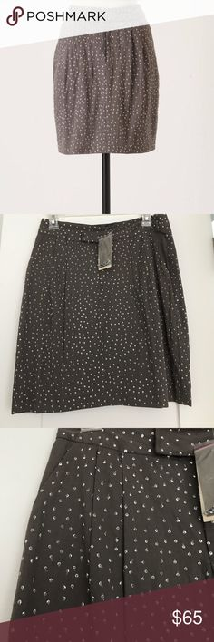 Anthropologie Sequin Sparkle Skirt New with tags; grey Anthropologie Skirts