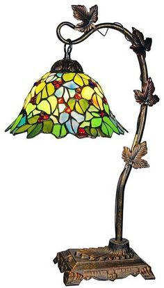colorful stained tiffany glass side table or bedside lamp Tiffany Stained Glass, Stained Glass Lamps, Tiffany Glass, Leaded Glass, Stained Glass Windows, Mosaic Glass, Glass Art, Antique Lamps, Vintage Lamps