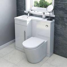 MySpace White Combination Unit with Arc Back to Wall Toilet - https://victoriaplum.com/product/myspace-white-combination-unit-rh-including-concealed-cistern-mywh02r?_$ja=tsid:49508&utm_source=pinterest&utm_medium=post