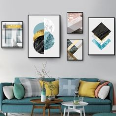 """""""Abstract Marble Art Geometric Blue Posters Canvas Painting Prints Wall Art Pictures for Living Room Office Home Decor Gift"""" Marble Pictures, Wall Art Pictures, Canvas Art Prints, Painting Prints, Canvas Wall Art, Geometric Wall Art, Abstract Wall Art, Scandinavian Wall Decor, Scandinavian Style"""