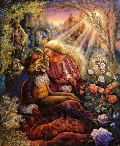 love is blind ~ beauty and the beast ~ by Josephine Wall