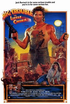 """Big Trouble in Little China 27x40 Movie Poster (1986). CAST: Kurt Russell, Suzee Pai, Dennis Dun, Kim Cattrall, James Hong, Victor Wong, Kate Burton; DIRECTED BY: John Carpenter; WRITTEN BY: David Weinstein, Gary Goldman, W.D. Richter; CINEMATOGRAPHY BY: Dean Cundey; MUSIC BY: John Carpenter, Alan Howarth. PRODUCER: Larry J. Franco, 20th Century-Fox. Features:    27"""" x 40""""   Packaged with care - ships in sturdy reinforced packing material   Made in the USA  SHIPS IN 1-3 DAYS"""