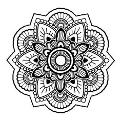 Select Your Favorite Mandala Drawing And Expose Inner Artist By Coloring Image With Creativity