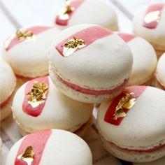 pink & white macaroons