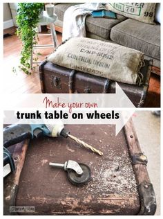 Old Trunk Tables Or Ottomans Just Add Casters
