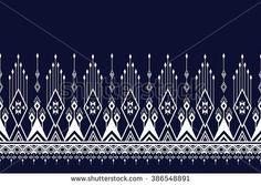 Geometric Ethnic pattern design for background or wallpaper. Ethnic Patterns, Weaving Patterns, Textile Patterns, Print Patterns, Geometric Embroidery, Embroidery Motifs, Embroidery Designs, Border Pattern, Pattern Design