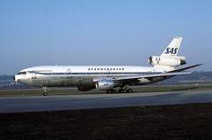 SAS DC10 Scandinavian Airlines System (SAS) DC-10-30 LN-RKA at Zürich International Airport