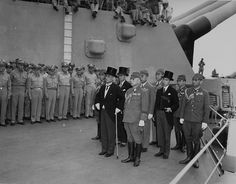 Aug. 14, 1945, President Harry S. Truman announces that Japan unconditionally surrendered to end World War II . Here's the ceremony of V-J Day on the USS Missouri