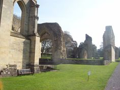 Love among the ruins:  Divorce!  Divorce! My country for a divorce -- Ruins at Glastonbury Abbey destroyed by order of King Henry VIII