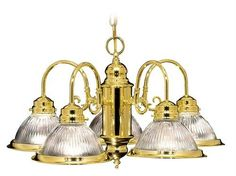 Home Basics Chandelier (LVX-6002-02). Home Basics - Chandelier - Polished Brass - 22 x 13 Product Specifications Fixture Type Chandelier Collection Home Basics Finish Polished Brass Glass Clear Ribbed Glass Dimensions 22 x 13 Wattage 5x100W Med Base We.. . See More Chandeliers at http://www.ourgreatshop.com/Chandeliers-C1008.aspx
