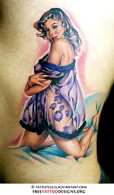 pin up girl tattoos | ... Tattoos | Gypsy, Anchor, Ship, Pin Up And Sailor Jerry Tattoo Designs