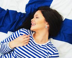 Finnish brunette blogger Sara Ollila