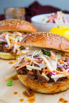 Apple BBQ Pulled Chicken Sandwiches use you DF yogurt and this one is great no one will know! #Bbqchicken