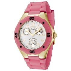 Women's Wrist Watches - Invicta Womens 0707 Angel Collection GoldPlated Pink Polyurethane Watch ** Find out more about the great product at the image link. (This is an Amazon affiliate link)