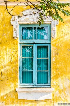 Shutters painted to match the exterior window frames. Porto Alegre, Rio Grande do Sul, Brazil - Amazing Interior Design Rio Grande Do Sul, Old Doors, Windows And Doors, Window Frames, Mellow Yellow, Aesthetic Wallpapers, Aesthetic Backgrounds, Aesthetic Yellow, Aesthetic Art