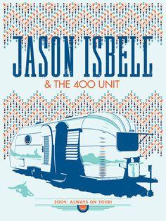 Jason Isbell & The 400 Unit - 2009 Tour Poster