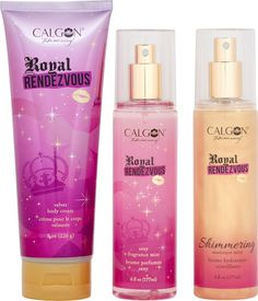 Calgon Royal Rendezvous: a regal blend of wild raspberry, pink gardenia, and patchouli.
