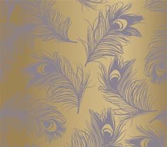 Dorm Essentials Feathers Lavender Designer Removable Dorm Room Wallpaper