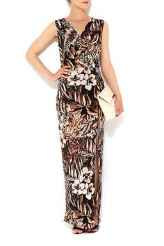Neutral Printed Wrap Maxi Dress #WallisFashion