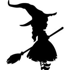 Silhouette Design Store: little witch