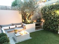 Small garden for entertaining, Battersea – Harrington Porter - Modern Back Garden Landscaping, Small Backyard Gardens, Backyard Patio Designs, Garden Spaces, Outdoor Gardens, Small Gardens, Back Garden Design, English Garden Design, Garden Design Plans