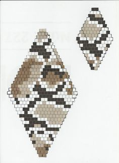 seed bead brick stitch camo More Beaded Earrings Patterns, Seed Bead Patterns, Peyote Patterns, Beading Patterns, Beading Tutorials, Bracelet Patterns, Seed Bead Jewelry, Seed Bead Earrings, Seed Beads