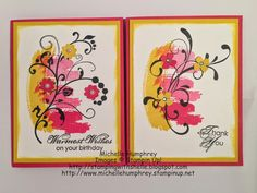 Stamping with Shelle: Work of Art Flourishes Card  http://stampingwithshelle.blogspot.com/2015/05/work-of-art-flourishes-card.html  #stampinup #flourishes #birthdaycard #thankyoucard