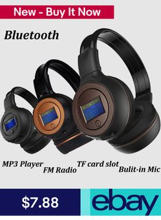 Stereo Bluetooth Wireless Headset/Headphones With Call Mic/Microphone. Operation Range: Bluetooth wireless connecting Up to 30 feet. Gaming Headphones, White Headphones, Bluetooth Earbuds Wireless, Headphones With Microphone, Ebay, Accessories, Consumer Electronics, January 8, Retail Packaging