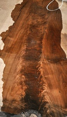 Great crotch Walnut log -- a few slabs even show a double crotch! Most boards are perfect for table tops and very clean of defects. ~ Hearne Hardwoods Inc.